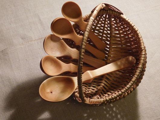 Посуда ручной работы. Ярмарка Мастеров - ручная работа. Купить Ложка деревянная ручной работы. Handmade. Бежевый, ложечка