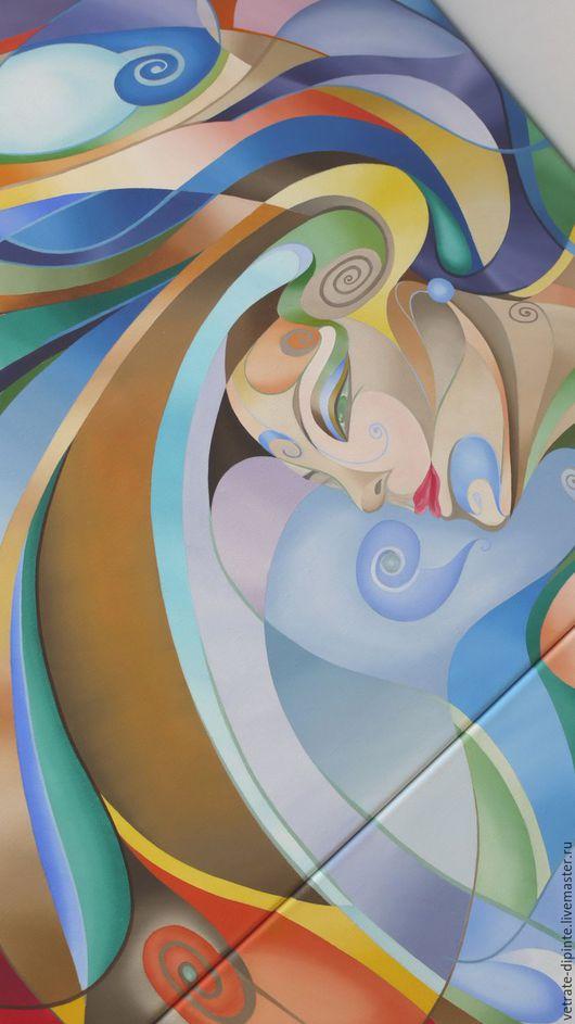 """Абстракция ручной работы. Ярмарка Мастеров - ручная работа. Купить картина маслом 80х140 """"Карнавал"""". Handmade. Картина маслом, яркая"""