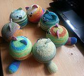 Куклы и игрушки ручной работы. Ярмарка Мастеров - ручная работа Коты-мячики крючком. Handmade.