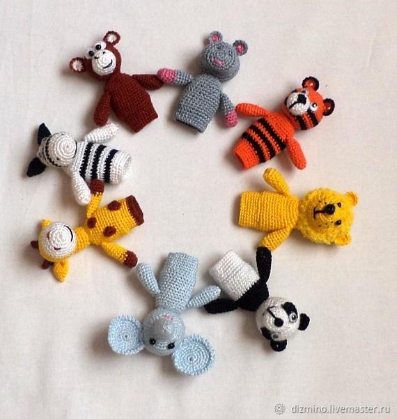 Пальчиковые куклы животные набор 10 кукол, Еда, Яр, Фото №1