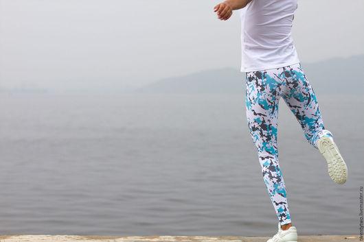 Спортивная одежда ручной работы. Ярмарка Мастеров - ручная работа. Купить Леггинсы женские для фитнеса, бега, кроссфита или йоги.. Handmade.