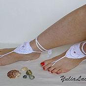 Украшения ручной работы. Ярмарка Мастеров - ручная работа Вязаные сандалии. Handmade.