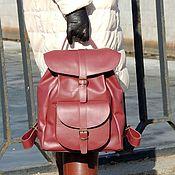 Сумки и аксессуары handmade. Livemaster - original item Backpack female leather Burgundy Paradise Fashion R53-782. Handmade.