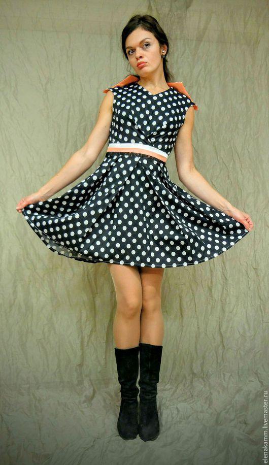 Платья ручной работы. Ярмарка Мастеров - ручная работа. Купить Платье в горошек. Handmade. В горошек, платье в горох