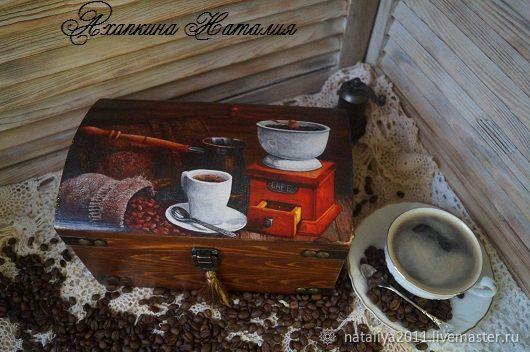 'Coffee ' - chest, Storage Box, Ruza,  Фото №1
