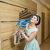"""Одежда ручной работы. Ярмарка Мастеров - ручная работа Платье в ретро стиле """"Голубой топаз"""". Handmade."""