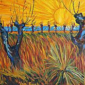 """Картины и панно ручной работы. Ярмарка Мастеров - ручная работа Картина """"Солнце Ван Гога"""". Handmade."""