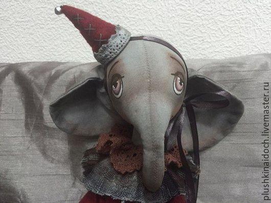 Игрушки животные, ручной работы. Ярмарка Мастеров - ручная работа. Купить Психоделик. Handmade. Слоник, грунтованный текстиль