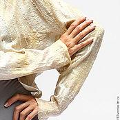 Одежда ручной работы. Ярмарка Мастеров - ручная работа Валяная кофта с рукавом летучая мышь Бежевые нити. Handmade.
