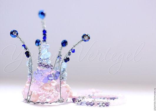 Диадемы, обручи ручной работы. Ярмарка Мастеров - ручная работа. Купить Корона из проволоки. Корона для принцессы.. Handmade. Розовый, подарок