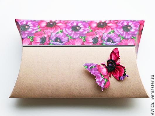 Подарочная упаковка ручной работы. Ярмарка Мастеров - ручная работа. Купить Упаковка. Handmade. Разноцветный, упаковка, бабочка