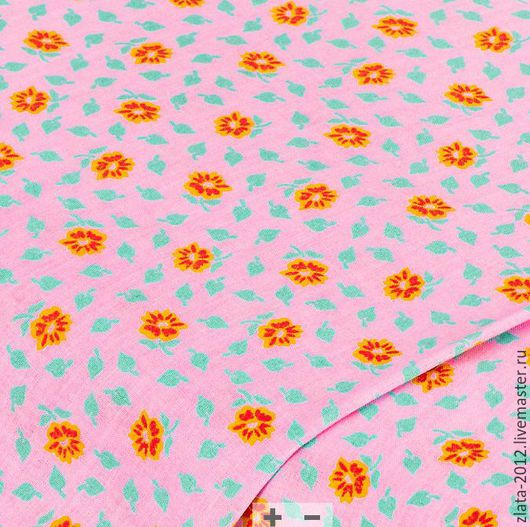 """Шитье ручной работы. Ярмарка Мастеров - ручная работа. Купить Немецкий хлопок""""orange"""" 50 на 50 см. Handmade. Хлопок, ткани"""
