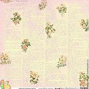 Материалы для творчества handmade. Livemaster - original item Paper for scrapbooking 30х30см180 g/m single-sided Spring.. Handmade.