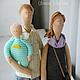 Портретные куклы ручной работы. Ярмарка Мастеров - ручная работа. Купить Портретная семья. Handmade. Разноцветный, куклы, бязь