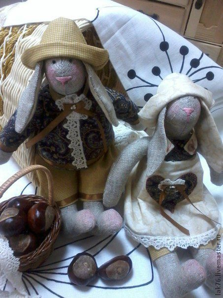 Куклы Тильды ручной работы. Ярмарка Мастеров - ручная работа. Купить Семейка Кроликов Тильда. Handmade. Игрушка ручной работы