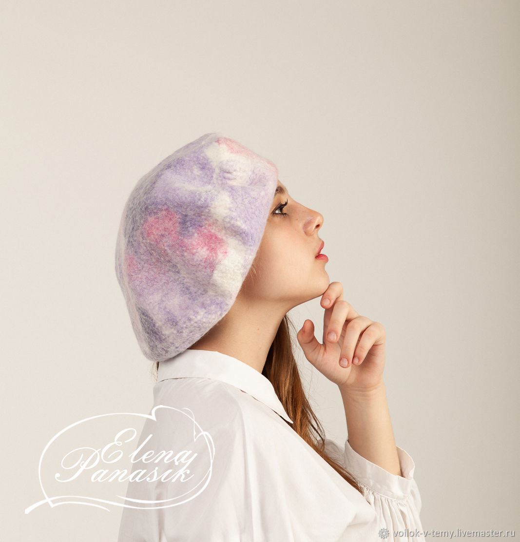 Felted French beret, Berets, Obninsk,  Фото №1