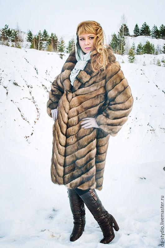 Author`s clothes by Dmitriy PEHTASHEV_Studio: long sable furcoat / шуба из соболя длинная  (Артикул 16-02-16) Photographer: Александр Крафт
