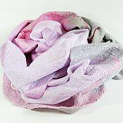 Аксессуары ручной работы. Ярмарка Мастеров - ручная работа шарф валяный Морозное утро. Handmade.