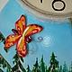 """Часы для дома ручной работы. Часы настенные """"Маша и медведь"""". Наталья Дегтярева (Natadeg). Ярмарка Мастеров. Часы интерьерные, бабочки"""