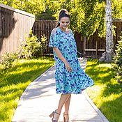 Одежда handmade. Livemaster - original item Viscose dress turquoise short. Handmade.