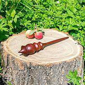 Материалы для творчества handmade. Livemaster - original item Spindle for spinning from the Siberian Cedar Wooden spindle #B17. Handmade.