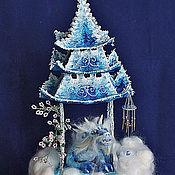 Куклы и игрушки ручной работы. Ярмарка Мастеров - ручная работа Китайская небесная пагода с драконом. Handmade.