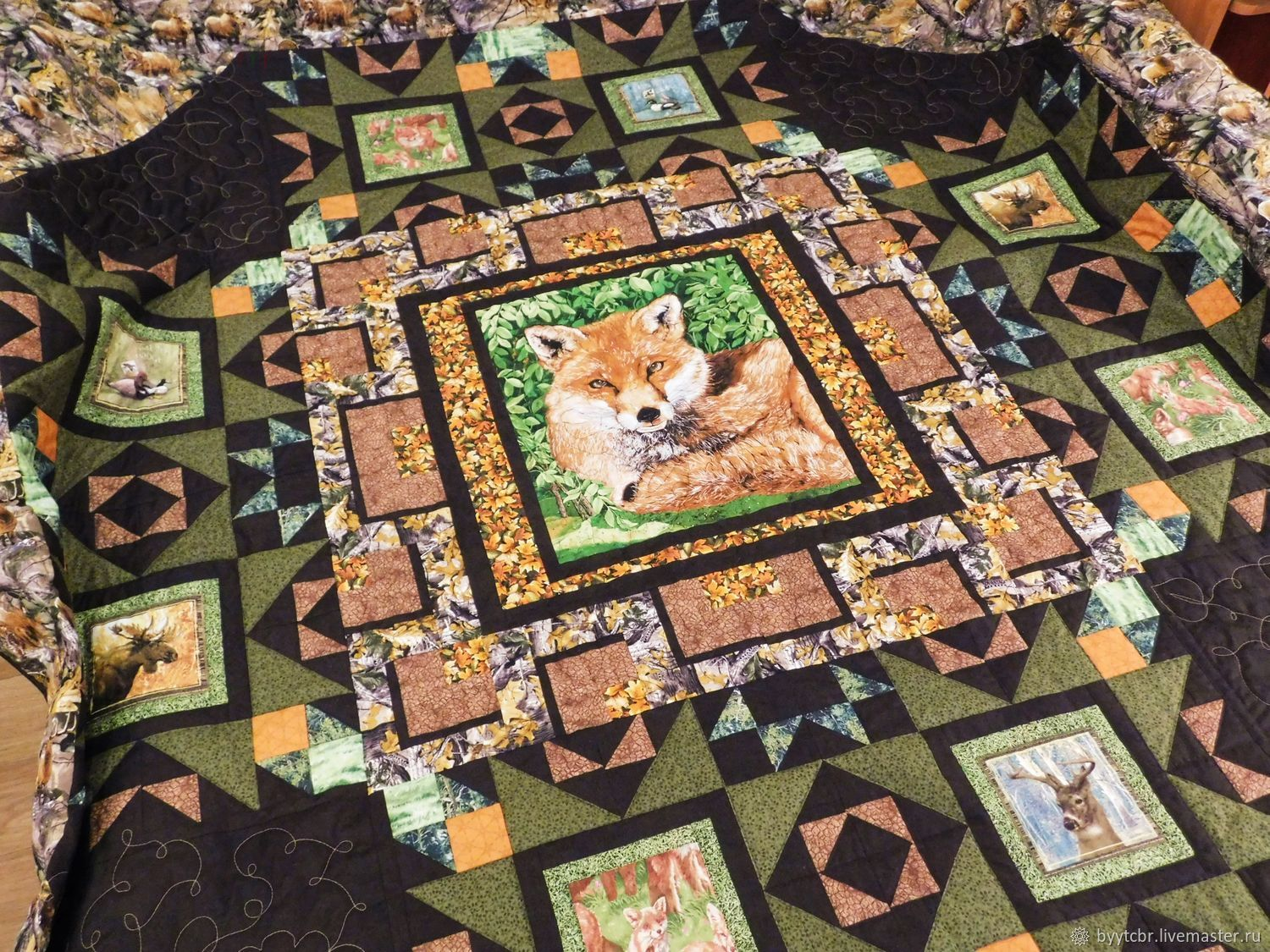 Fox patchwork, Blanket, Moscow,  Фото №1