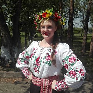 Одежда ручной работы. Ярмарка Мастеров - ручная работа Вышиванка,Розы.. Handmade.