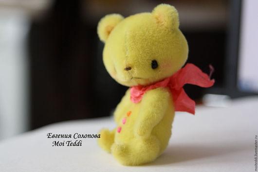 Мишки Тедди ручной работы. Ярмарка Мастеров - ручная работа. Купить мишка-лимон. Handmade. Желтый, солнечное настроение
