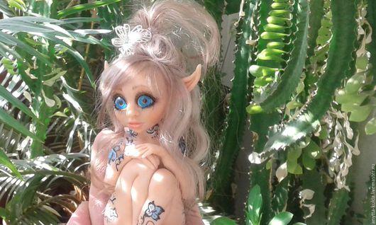 Сказочные персонажи ручной работы. Ярмарка Мастеров - ручная работа. Купить ....Дриада голубая..... Handmade. Бежевый, кукла интерьерная