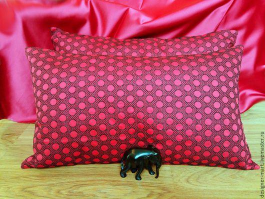 Текстиль, ковры ручной работы. Ярмарка Мастеров - ручная работа. Купить Красная подушка. Handmade. Ярко-красный, диванные подушки