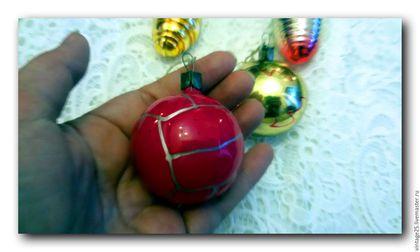 Винтажные куклы и игрушки. Ярмарка Мастеров - ручная работа. Купить Елочные игрушки 64 год. Handmade. Комбинированный, винтажная елка, стекло