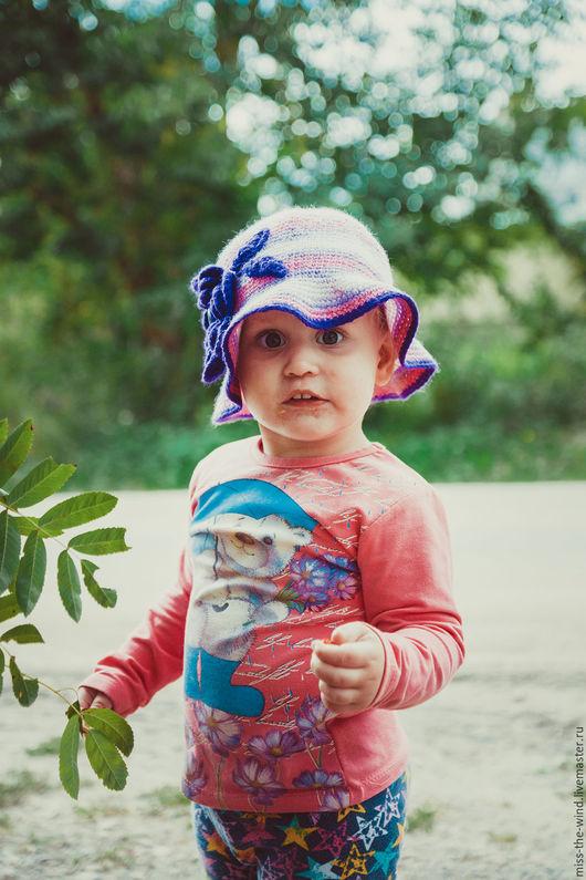 """Шапки и шарфы ручной работы. Ярмарка Мастеров - ручная работа. Купить Шляпка детская """"Мадемуазелька"""". Handmade. Комбинированный, шляпка на осень"""