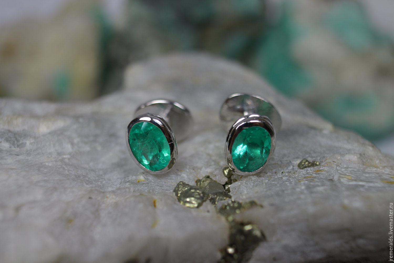 Men's Cufflinks, Emerald Cufflinks, 11.56tcw Colombian Emerald Cufflin, Chokers, West Palm Beach,  Фото №1
