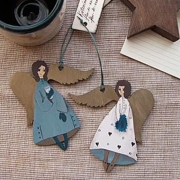 Подарки к праздникам ручной работы. Ярмарка Мастеров - ручная работа Ангелы в варежках и с муфтой. Handmade.