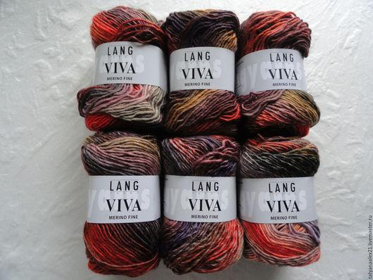 Вязание ручной работы. Ярмарка Мастеров - ручная работа. Купить Пряжа Lang Yarns Viva 0075 New. Handmade.