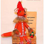 Куклы и игрушки ручной работы. Ярмарка Мастеров - ручная работа авторская игрушка Лисичка -клубничка. Handmade.