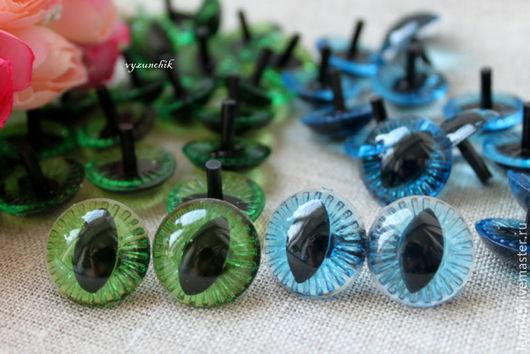 Куклы и игрушки ручной работы. Ярмарка Мастеров - ручная работа. Купить Глазки кошачьи 20 мм. Handmade. Зеленый