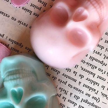 Косметика ручной работы. Ярмарка Мастеров - ручная работа Мыло: зеленый череп. Handmade.