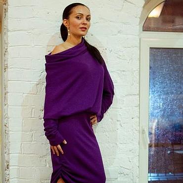 Одежда ручной работы. Ярмарка Мастеров - ручная работа Теплое платье из мягкой шерсти. Handmade.