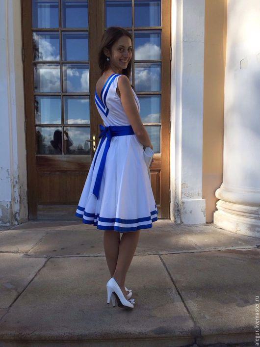 """Платья ручной работы. Ярмарка Мастеров - ручная работа. Купить Платье """"Атлантида"""". Handmade. Круиз, пышная юбка"""
