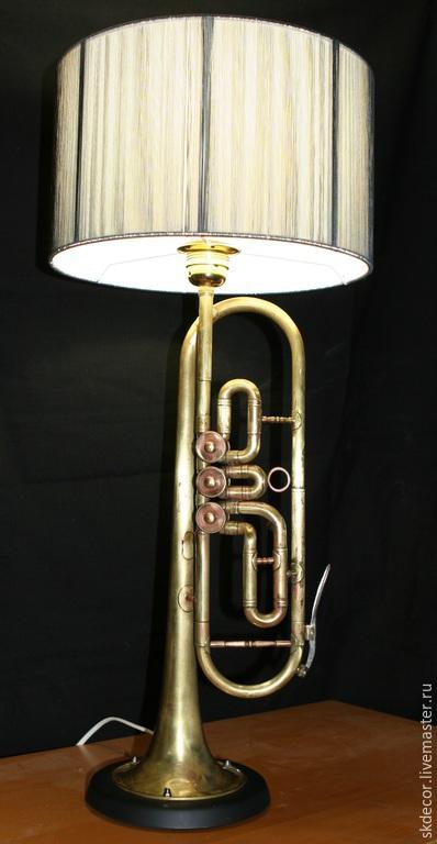 Освещение ручной работы. Ярмарка Мастеров - ручная работа. Купить Напольная лампа труба. Handmade. Светильник, медь