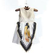 Одежда детская handmade. Livemaster - original item Elegant dress for a girl from a silk scarf with a girl p. 110. Handmade.