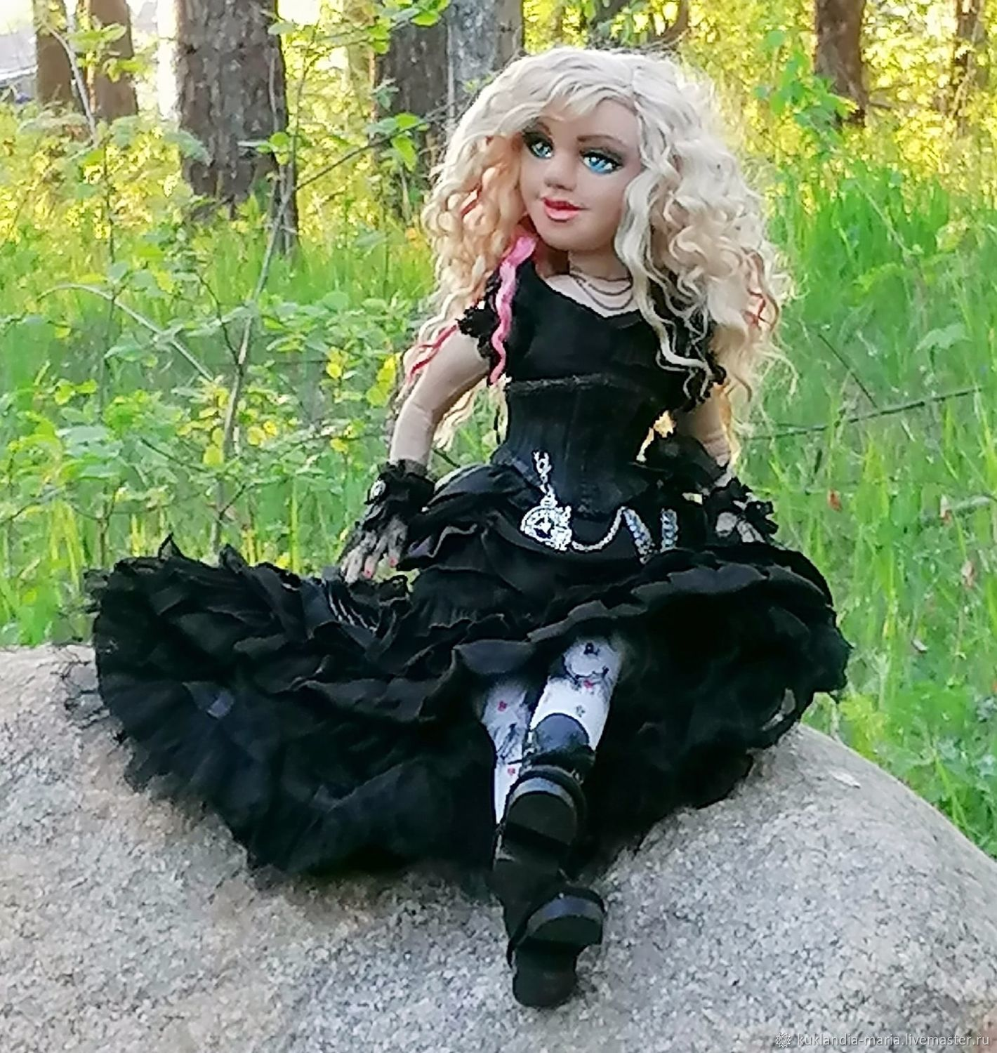 Alice from Wonderland, textile, author's doll, Dolls, St. Petersburg,  Фото №1