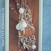 """Картины и панно ручной работы. Ярмарка Мастеров - ручная работа Флористический коллаж """"Подарок русалки"""". Handmade."""