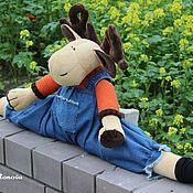 Куклы и игрушки ручной работы. Ярмарка Мастеров - ручная работа Лосяш - игрушка от сквозняков. Handmade.