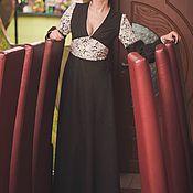 """Одежда ручной работы. Ярмарка Мастеров - ручная работа Нарядное платье в пол ,,Шоколад"""". Handmade."""