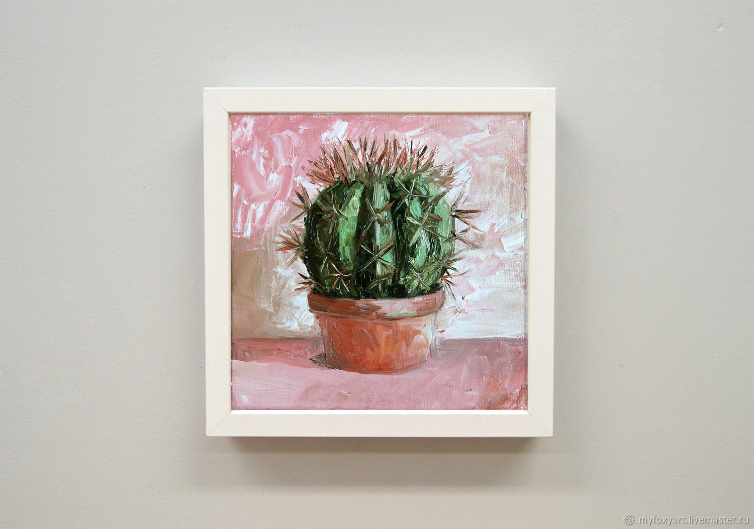 Cactus, kitchen painting, home plant, Pictures, St. Petersburg,  Фото №1