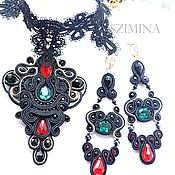 Украшения handmade. Livemaster - original item soutache necklace choker lace.. Handmade.