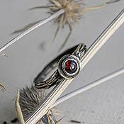 Украшения handmade. Livemaster - original item Thin silver ring sprig with pomegranate